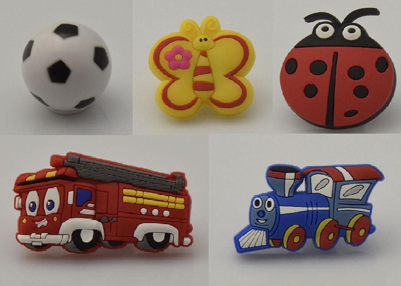 669 Bouton kinderzimmer Knauf enfants Bouton de meubles pompiers de football Papillon Lok