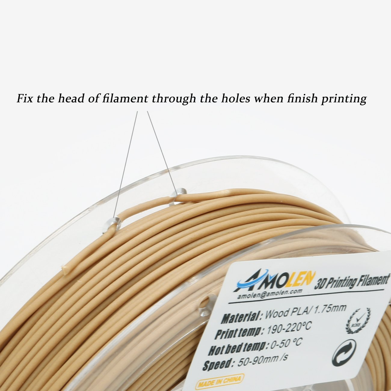 Shining Gold PLA Filament 1.75mm +//- 0.03 mm AMOLEN 3D Printer Filament Set Marble Bronze Includes Sample UV Color Change to Hot Pink and GITD Blue Filament. Wood 4x225g