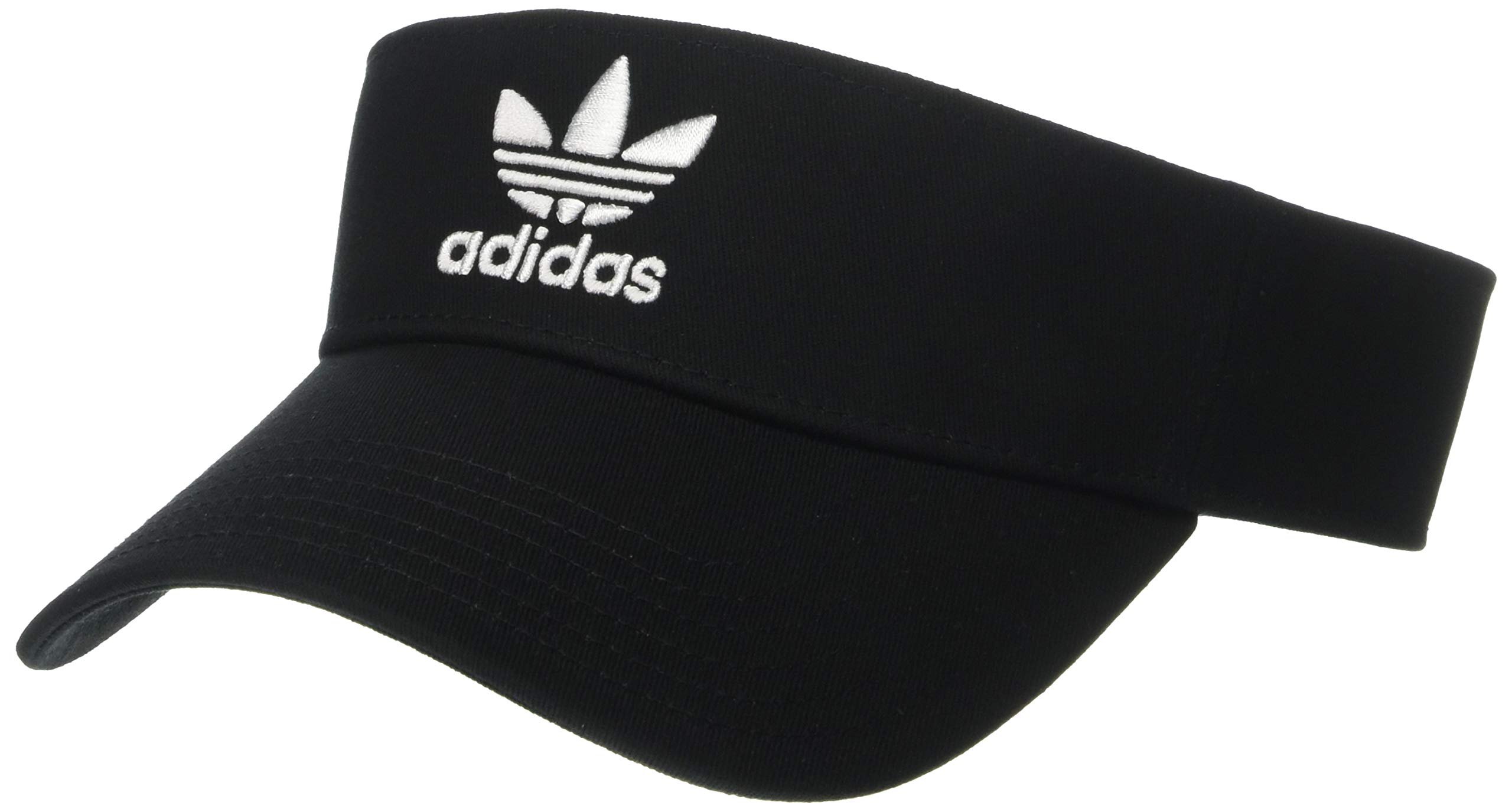 adidas Originals Unisex Twill Visor, Black/White, ONE SIZE by adidas