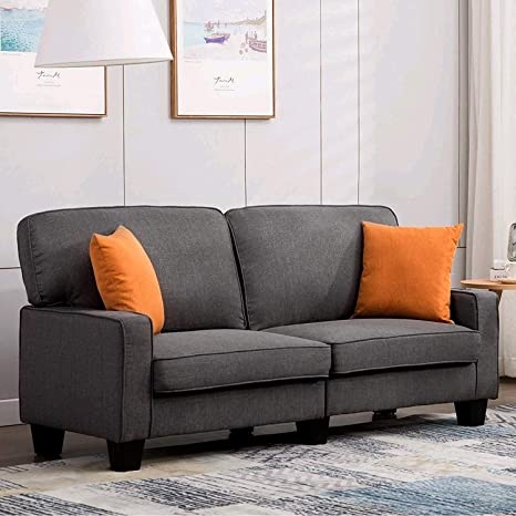 Magnificent Mecor Loveseat Sofa Couch Fabric Loveseat Couch Classic Modern Sofa 68 Inch Living Room Furniture Grey Pabps2019 Chair Design Images Pabps2019Com