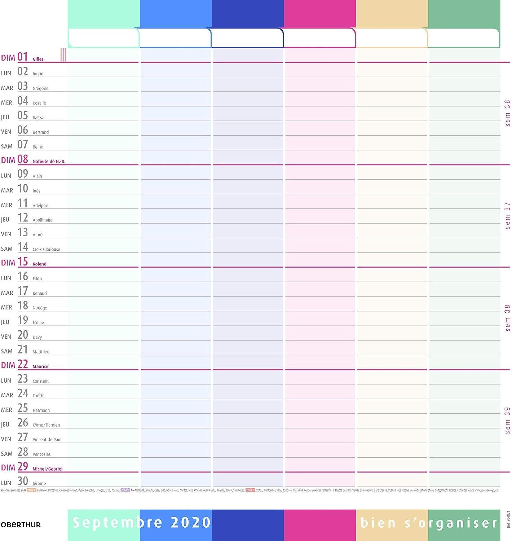 Calendrier De Septembre 2018 à Aout 2021 Septembre 2020 à Août 2021 30x30 cm 1 Calendrier dorganisation 12