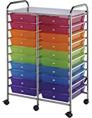 "Blue Hills Studio Double Storage Cart W/20 Drawers-25.5""X38""X15.5"" Multicolor"