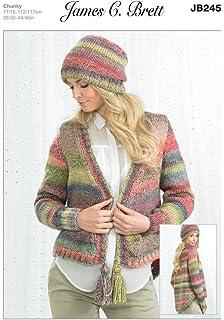 James C Brett Double Knitting Pattern JB511 Sweater 71//76-112//117 cm