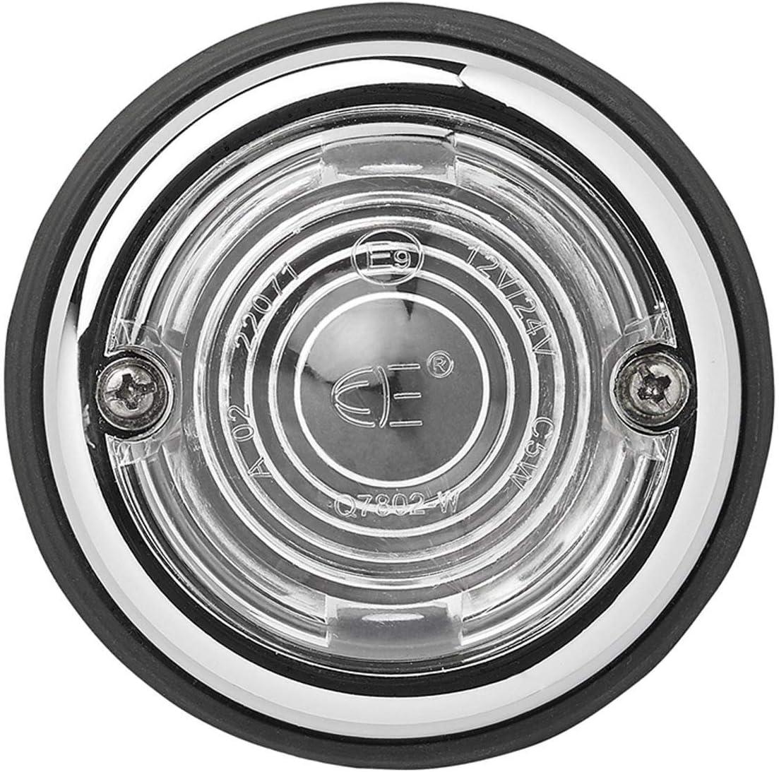 2 Luces de posici/ón Blancas Luces de g/álibo para Camiones y Camiones 70 mm