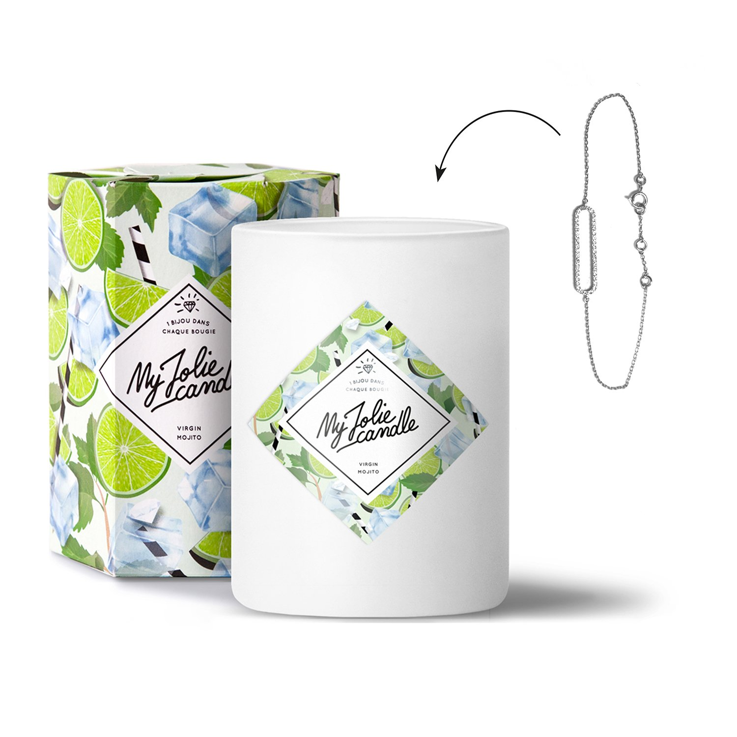 My Jolie candle Bougie-Bijou Virgin Mojito - Bracelet
