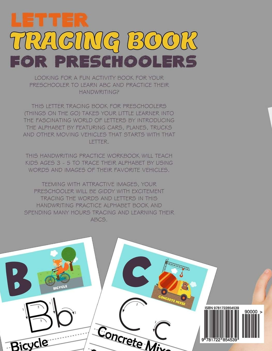 Letter Tracing Book For Preschoolers Things On The Go Alphabet