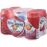 Sanpellegrino(サンペレグリノ) スパークリングフルーツベバレッジ アランチャータ・ロッサ(ブラッドオレンジ)330ml缶×6本入