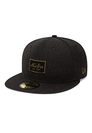 e9bf3d5230a3 New Era NE Heather Script 59Fifty Cap Patch Dunkelgrau  Amazon.de   Bekleidung