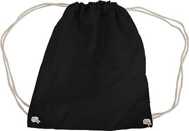 Westford Mill - Mochila saco o de cuerdas de algodón Modelo Gymsac Deporte/Gimnasio (12 litros): Amazon.es: Ropa y accesorios