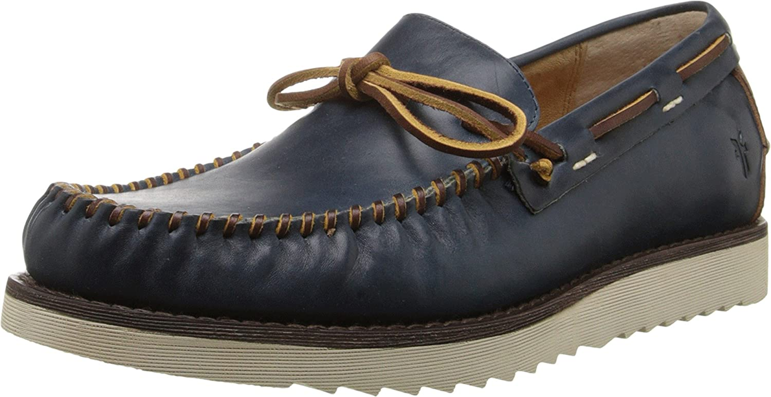 ce09c25cc Amazon.com  FRYE Men s Nathan Tie Navy Smooth Full Grain Stone Antiqued  Oxford  Shoes