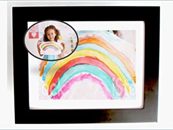 say bye bye to magnets displaying kids art in the kitchen easy change picture frame - Easy Change Artwork Frames