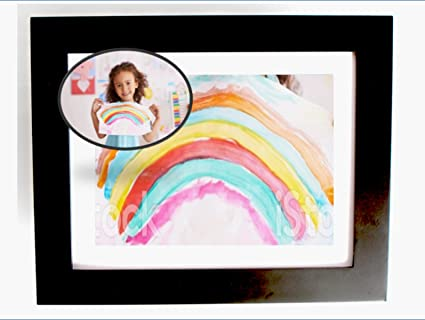 4a706b883321 Say Bye Bye to Magnets Displaying Kids Art in the Kitchen! Easy Change  Picture Frame