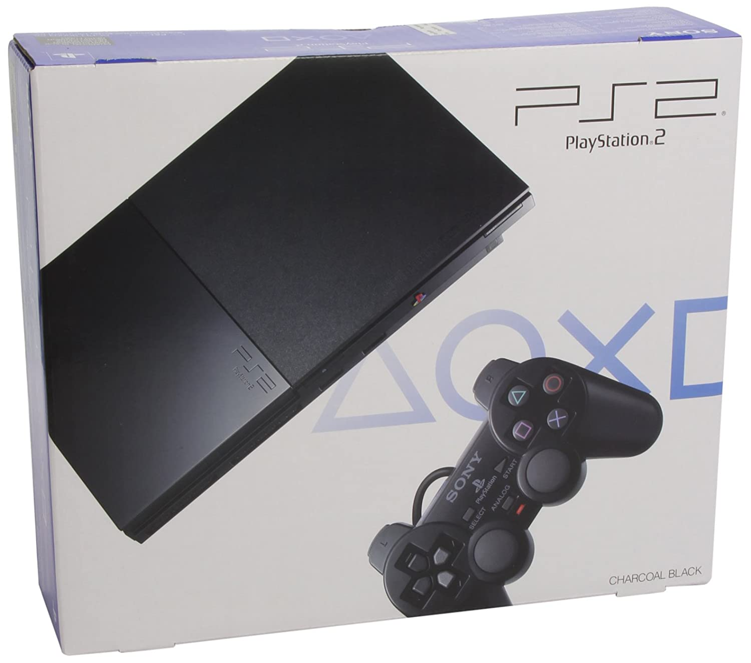 sony playstation 2 slim. sony playstation 2 console slim - black: amazon.co.uk: pc \u0026 video games t