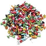 Homgaty Lot de 200 Mini attaches parisiennes Multicolore Papier craft Estampillage Scrapbooking Bricolage Outil 4,5mm