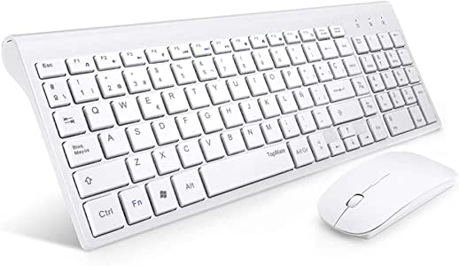 TopMate Combinación de Teclado y Mouse inalámbricos Teclado Ultra ...