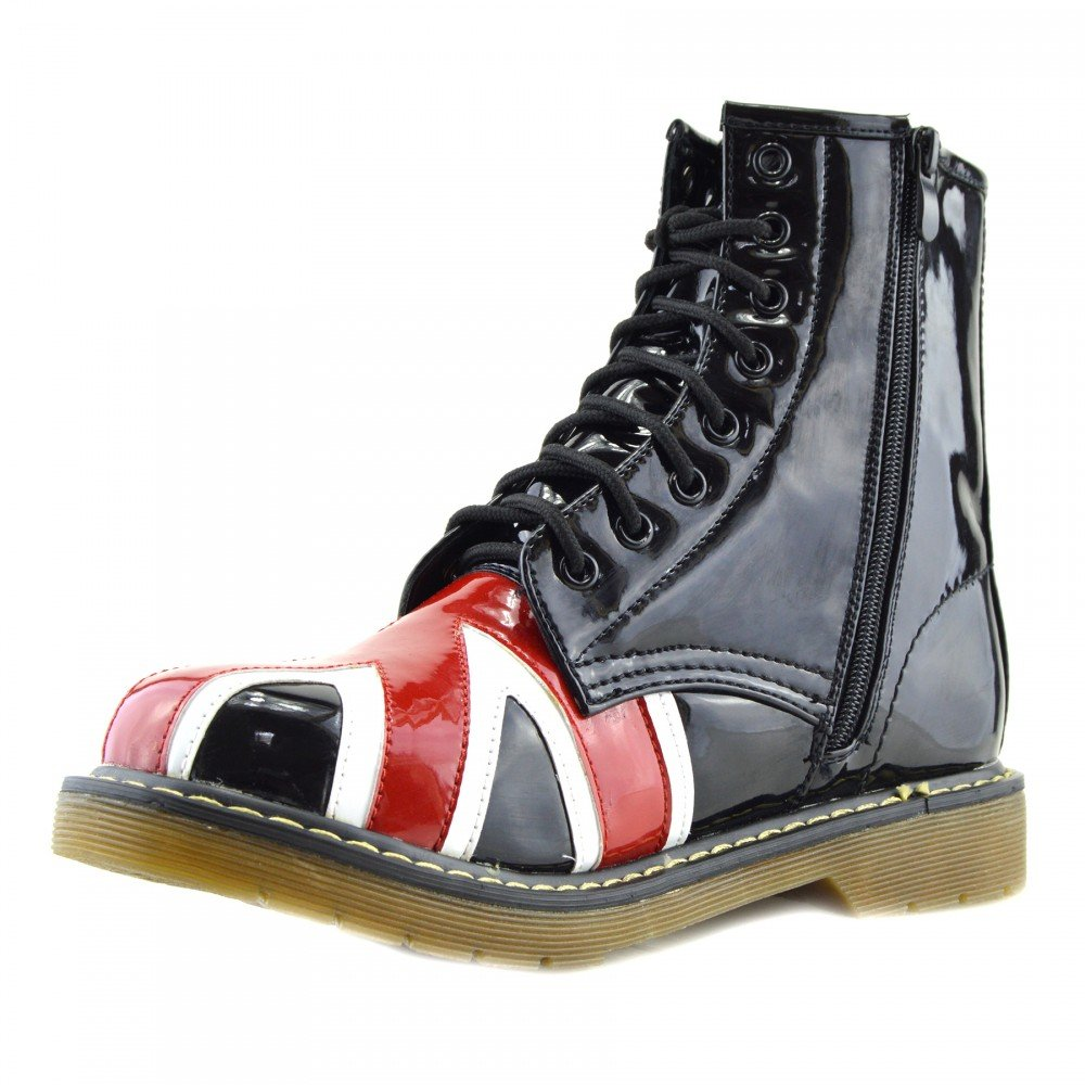 Kick Footwear Ladies Ankle Retro Combat Boot Funky Damenschuhe lace Funky Boot ... 8fe1c2