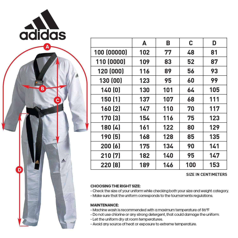 Adidas WTF Uniform//Champ III//ADICHAMP 3 Uniform//Climalite//Taekwondo Dobok//Free
