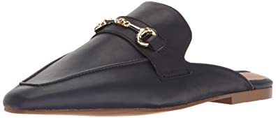 1a1aeecfb9a98 STEVEN by Steve Madden Womens Razzi L Closed Toe Mules, Navy Leather, Size  5.0