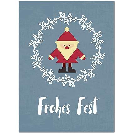 Moderne Weihnachtskarten.15 X Moderne Weihnachtskarten Mit Umschlag Motiv Frohes Fest Blau Grau Modern Im Postkarten Format Weihnachten Weihnachtsgrusskarte