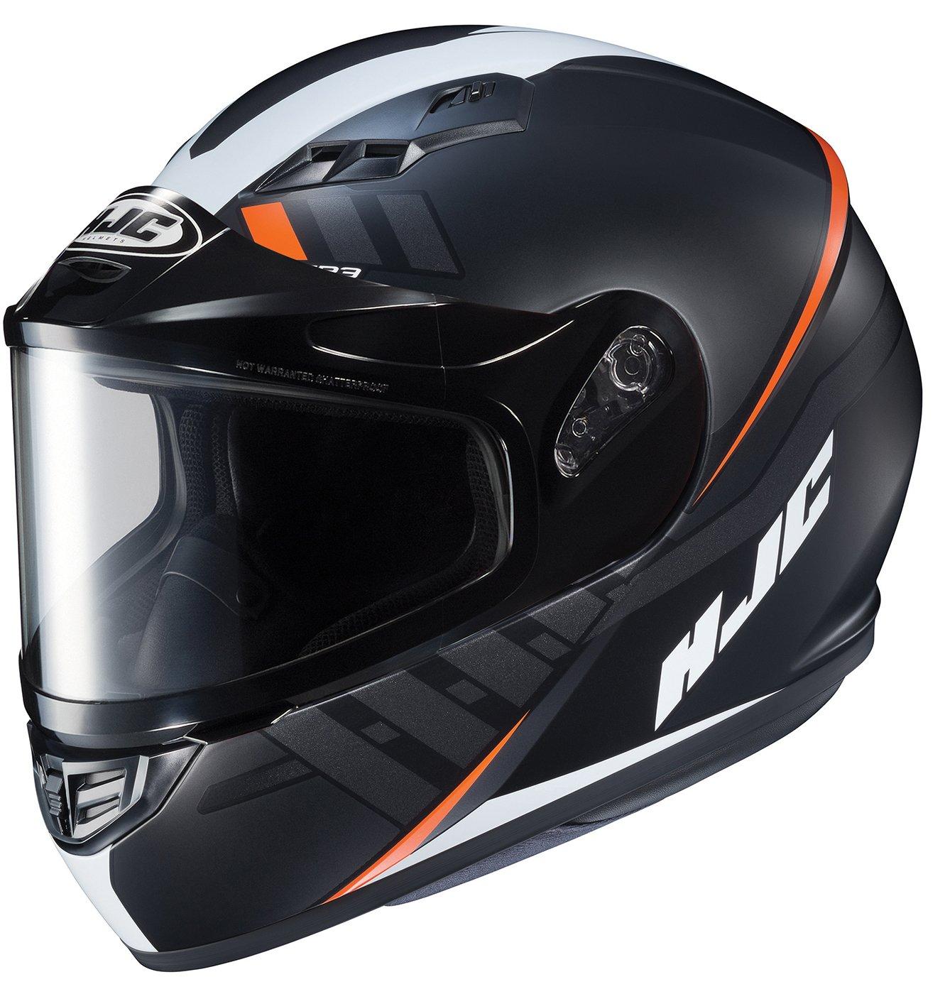 HJC Helmets Unisex-Adult Full-face Style CS-R3 Space Snow Helmet with Dual Lens Shield Black//Orange X-Large 137-775