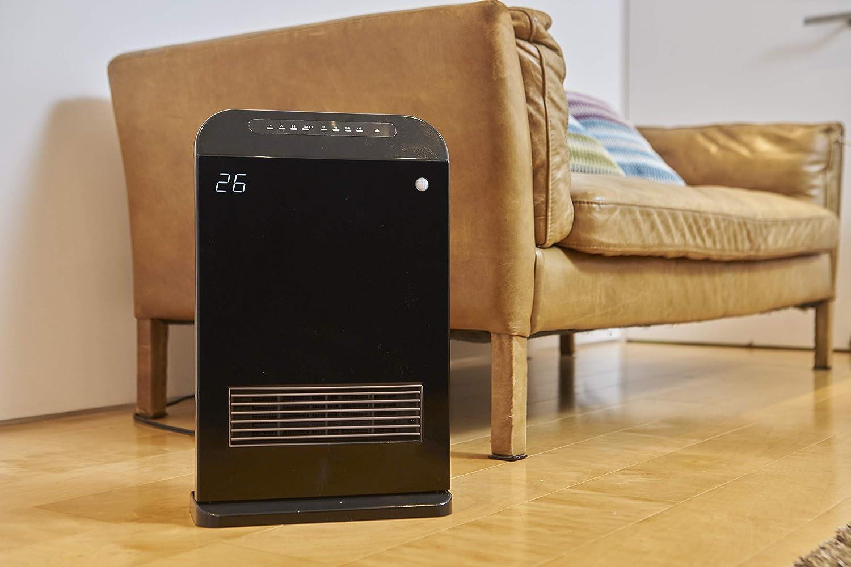[山善] 室温センサー付セラミックヒーター(温度設定4段階・センサー運転機能付) 消臭フィルター付(トリプルフレッシュバイオフィルター) ブラック DHF-VJ12(B) [メーカー保証1年]