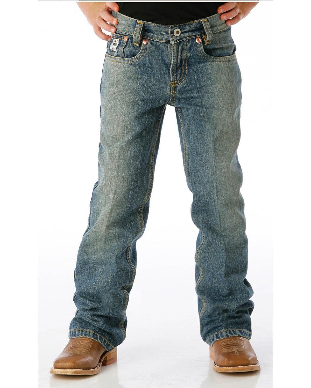 Cinch Boys' Little Low Rise Regular Jean, Medium Stone Wash with Tint, 7R