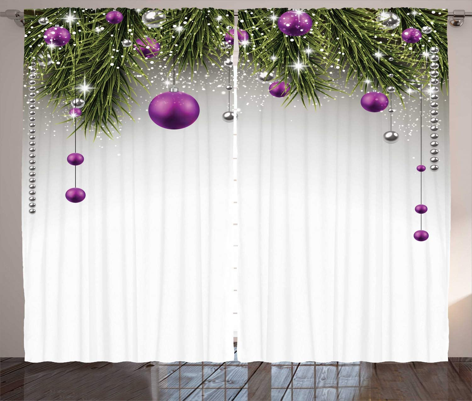 christmas curtains for living room