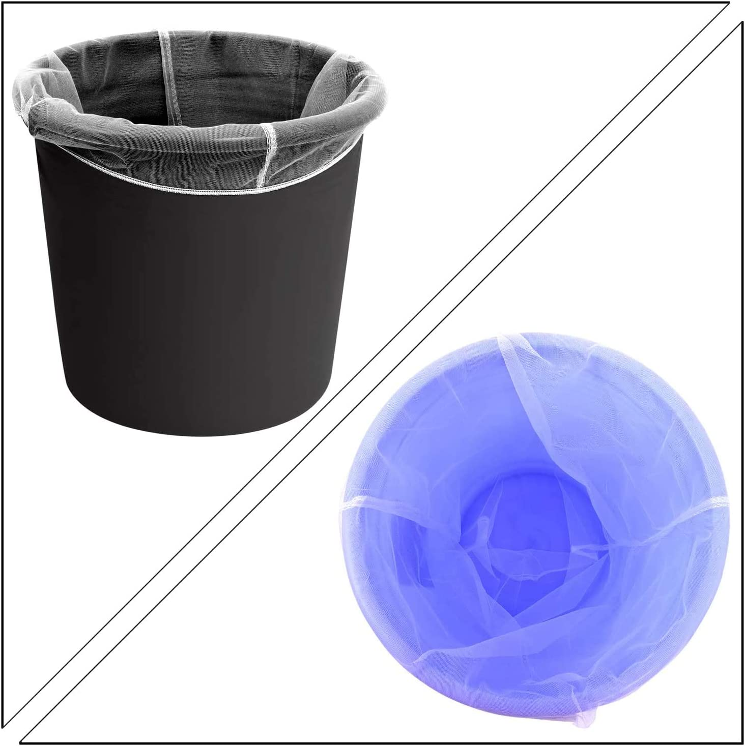 Elastic Opening Strainer Bags Filter Bags for Hydroponics /& Bucket Painting Gardening 15 Pieces Paint Strainer Bags Include 10 Pieces 5 Gallon /& 5 Pieces 2 Gallon White Fine Mesh Filters Bag