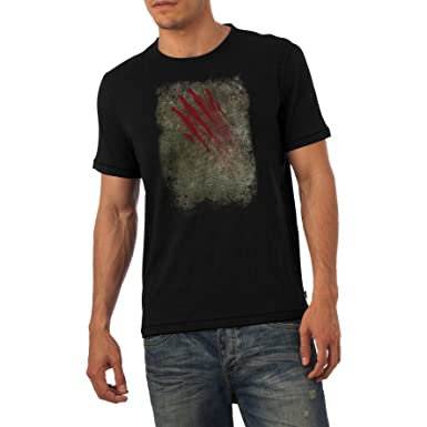 9ce381fd9887 TWISTED ENVY Funny T-Shirts For Guys Bloody Claw Slash Men s T-Shirt Small