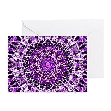Amazon Cafepress Fly Away Purple Mandala Greeting Card