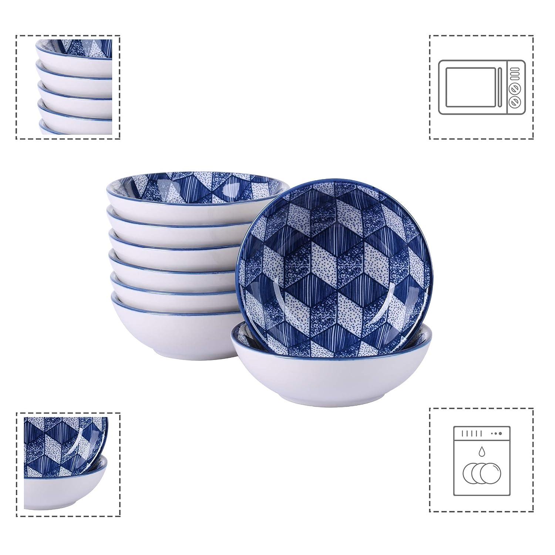 vancasso AICHI Juego de Platos 4 piezas Platos Hondos Platos para Sopa Vajillas de Porcelana Pintadas a mano Estilo Japon/és