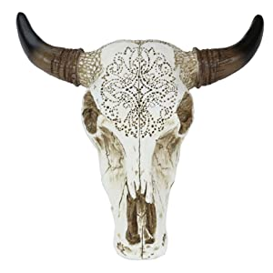 LL Home Accents Tooled Bull Skull Wall Sculptures