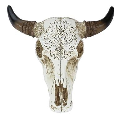 LL Home Accents Tooled Bull Skull Wall Sculptures