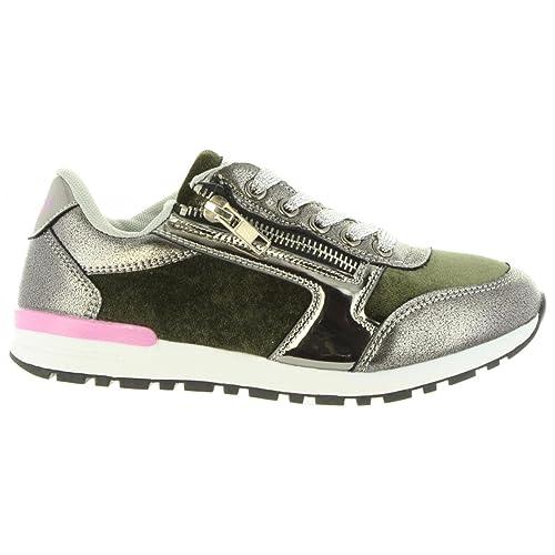 Deportivas de Mujer y Niña LOIS JEANS 83848 147 Kaki: Amazon.es: Zapatos y complementos