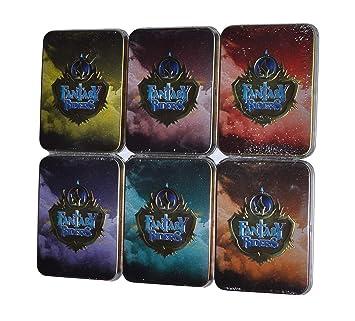 Fantasy Riders - Pack 6 Cajas de Metal con 2 Sobres en Cada una: Amazon.es: Juguetes y juegos