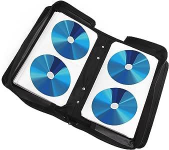 DHOUTDOORS Monedero de 120 CD para almacenar CD / DVD / BLU-Rays Soporte para Estuche de Disco Porta Carpetas de Almacenamiento Negro: Amazon.es: Electrónica