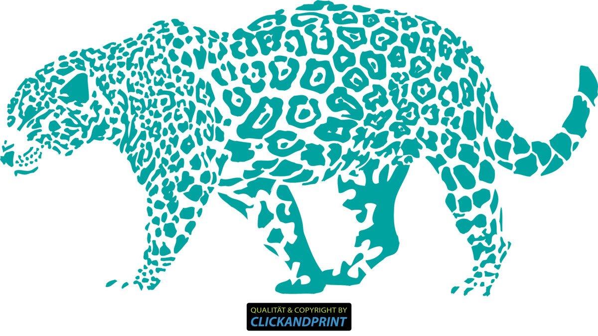 CLICKANDPRINT Aufkleber » Leopard, 150x74,4cm, Türkis • Wandtattoo Wandtattoo Wandtattoo   Wandaufkleber   Wandsticker   Wanddeko   Vinyl B073X7KQDW Wandtattoos & Wandbilder 4eab74