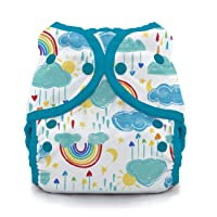 Thirsties Duo Wrap Cloth Diaper Cover, Snap Closure, Rainbow Size One (6-18 lbs)