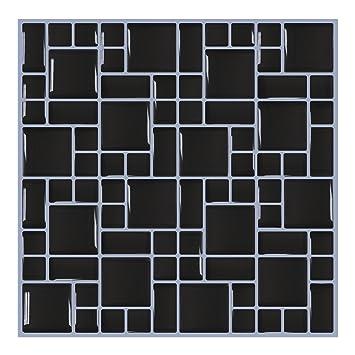 Tile & Sticker Dalle de dosseret autoadhésive de 25 x 25 cm pour ...
