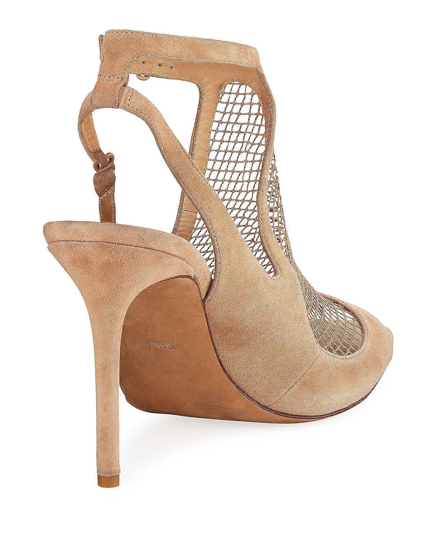 380b6b48f9 Amazon.com   Alexander Wang Piper Suede Fishnet Sandal 38.5 Nude   Heeled  Sandals