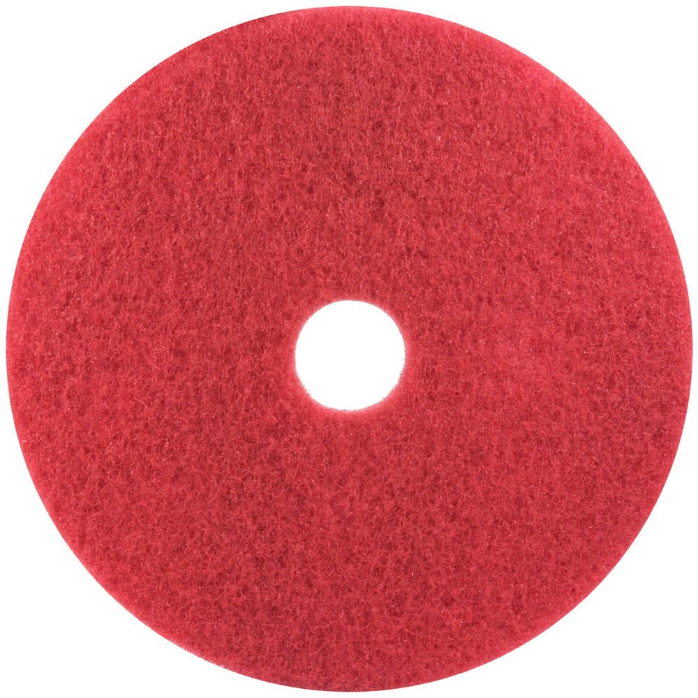 3M Scotch-Brite Premium Floor Buffing Pads 17' Red 43cm - Pack of 5