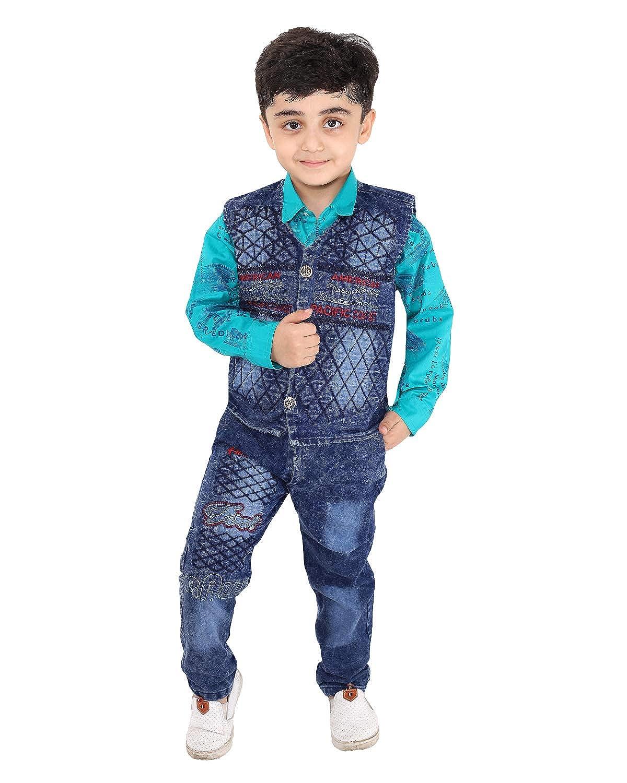 Fourfold - Juego de traje étnico de 3 piezas con camisa de corbata ...