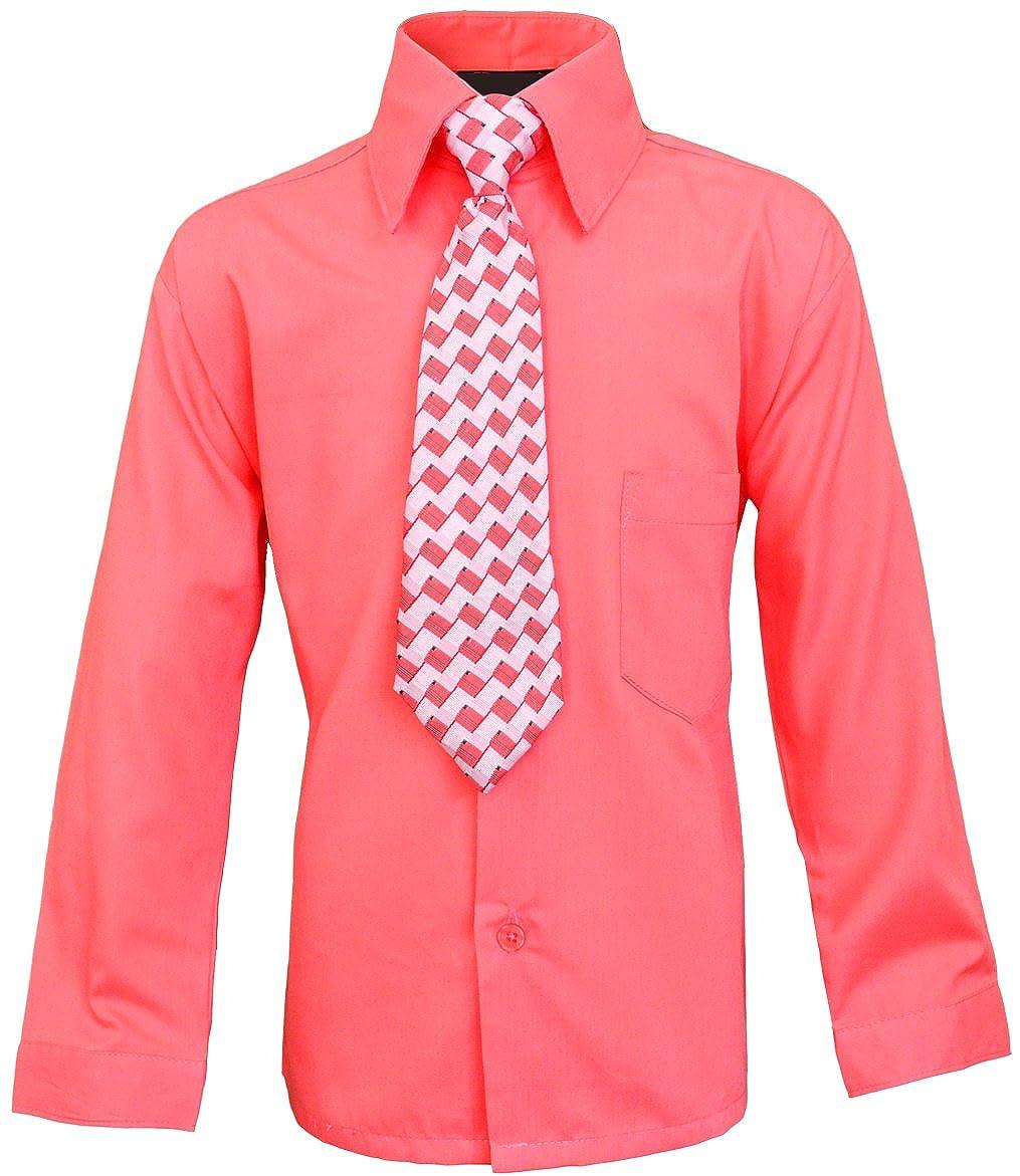 Black n Bianco Boys Long Sleeve Button Down Dress Shirt