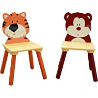 Liberty House Toys Jungle Chair Set, Wood, Multi-Colour