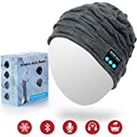 Jiamus Bluetooth Beanie Hat, Wireless Smart Headphone Premium Knit Cap with Speaker & Mic, Unisex Headset Musical Warm Cap for Winter Outdoor Sports