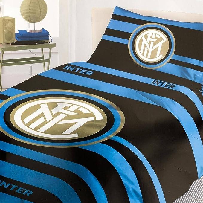 Inter 9638519p511 Colcha, 100% algodón, Azul/Negro, 38 x 28 x 2 cm: Amazon.es: Ropa y accesorios