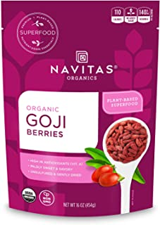 product image for Navitas Organics Goji Berries, 16 Ounce. Bag, 15 Servings Organic, Non-GMO, Sun-Dried, Sulfite-Free