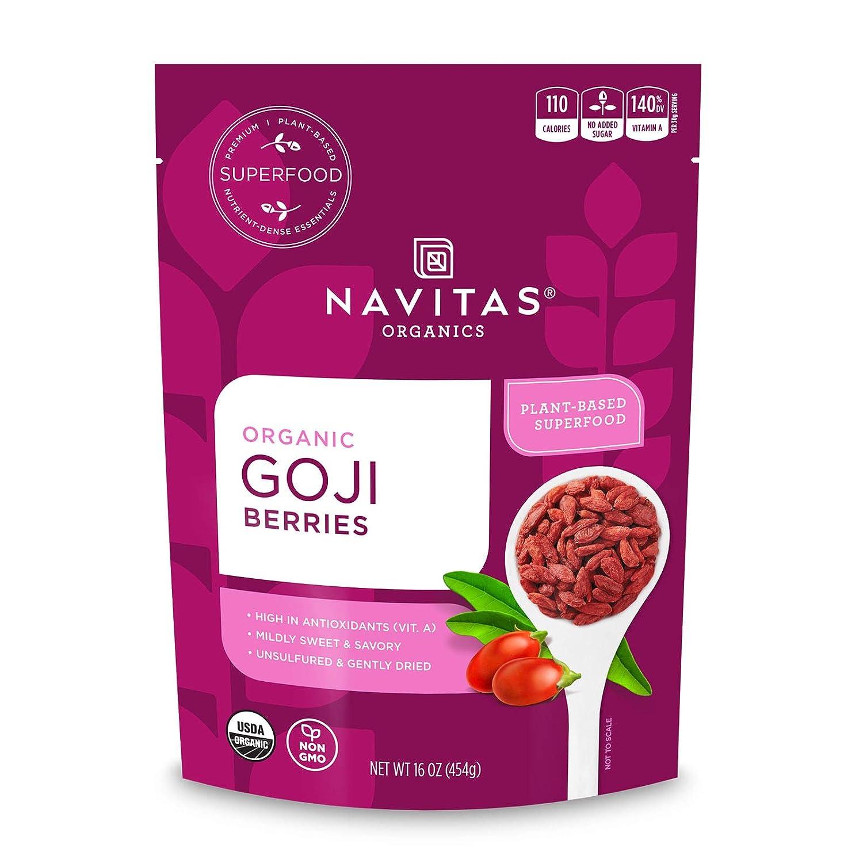 Navitas Organics Goji Berries 16 Oz Bag Organic Non Gmo Sun