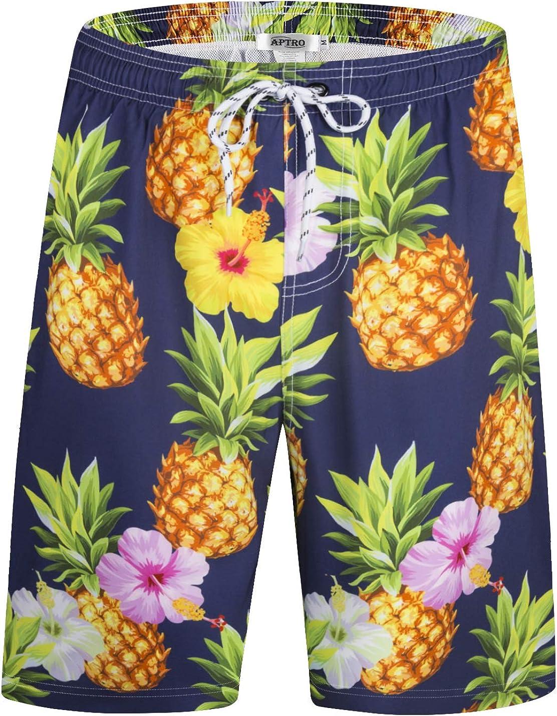 APTRO Mens Shorts Swim Trunks Casual Surf Beach Shorts Quick Dry Board Shorts 01