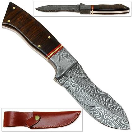 Amazon.com: Rebel Wolf California spay-blade Damasco hecho a ...
